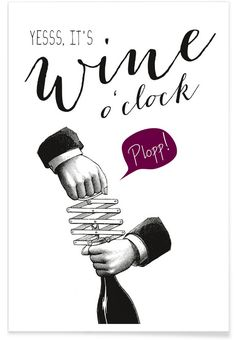 Wine o'clock - Amy & Kurt - Affiche premium