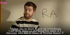 Since I'm usually ahead of him, this is definitely something I'd say to Jesse. British Humor, British Comedy, Bad Education, Jack Whitehall, Little Britain, Bbc Three, Be My Teacher, I Love To Laugh, Film