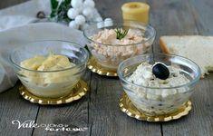 CREME PER ANTIPASTI 3 ricette veloci e senza cottura, ideali come antipasti di Natale, da spalmare su pane, tartine e per farcire voulevant di pasta sfoglia