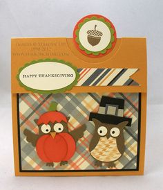 Stampin Up Halloween Punch Arts | ... CREATIVITY and COMPANY: Pumpkin, Pirate and Pilgrim Owl Punch Art