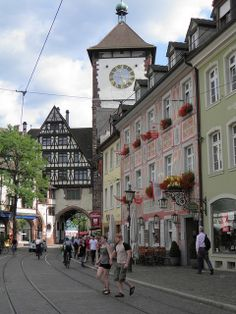 Freiburg im Breisgau germany the way Americans expect it to be.such a charming little city! Oh The Places You'll Go, Places To Travel, Streets Have No Name, Dresden, Brandenburg Gate, I Want To Travel, Berlin Germany, Black Forest, European Travel