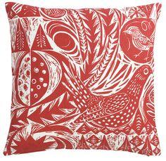 St. Jude Bird Garden, Red cushion cover