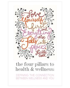 HEALTH & WELLNESS - THE 4 PILLARS - Move Nourish Believe