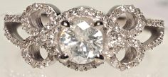 14K WHITE GOLD AND DIAMOND RING .41CT - Currently Available @ E. M. Wallace Auctions & Appraisals www.EMWAA.com & or info@EMWAA.com
