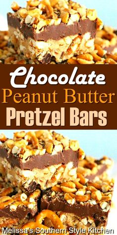 Sweet and salty Chocolate Peanut Butter Pretzel Bars recipes desserts baking Peanut Butter Pretzel, Peanut Butter Desserts, Peanut Butter Cookie Bars, Peanut Butter Chocolate Bars, Peanut Bar, Pretzel Desserts, Köstliche Desserts, Delicious Desserts, Meal Prep