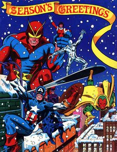 Hello Friends of Ol' Marvel, so what are you doing for the holidays? Why not celebrate the holidays with the Marvel Superheroes and us where you will find the best in Marvel comics ans collectible for your holiday gift-giving So Visit us at our Make Mine Marvel Page Today!! http://tomatovisiontv.wix.com/tomatovision2#!holiday-gifts/cx6h