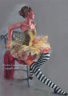 Ballet Dancer with Striped Socks
