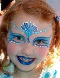 face paint - mermaid
