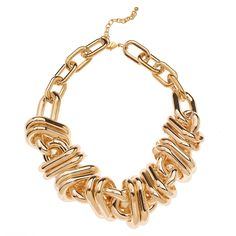 Chunky Gold Chain Link Necklace by: t+j Designs