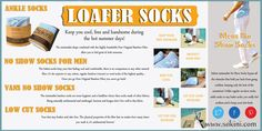 Browse this site http://sokini.com/minimalist-no-show-socks-bamboo/ for more information on Loafer Socks. Choose vibrant colored socks made from light summery fabrics such as lace or open worked linen. This season isn't about heavy leg warmers but rather about dainty Loafer Socks adding to the fun spring/summer look.