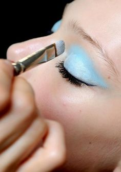 eyeshadow in a beautiful shade of blue