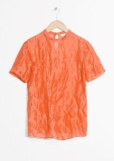& Other Stories image 1 of Silk Tee in Orange