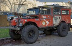 land rover....rough and ready!