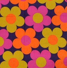 1960s-1970s huge flowers fabric