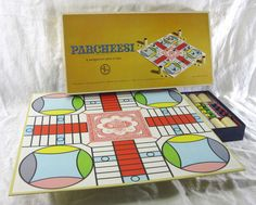 Parcheesi Vintage 1964 Game Gold Seal Selchow Righter Backgammon India Complete #SelchowRighter