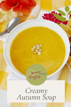 Creamy Autumn Squash Soup is a delicious blend of butternut squash and pumpkin simmered in a fall spiced vegetable broth. Easy Dinner Recipes, Easy Meals, One Skillet Meals, Squash Soup, Food To Make, Main Dishes, Yummy Food, Ethnic Recipes, Easy Dinner Recipies