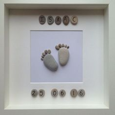 Handmade, Bespoke Pebble Art - Personalised Baby Gift