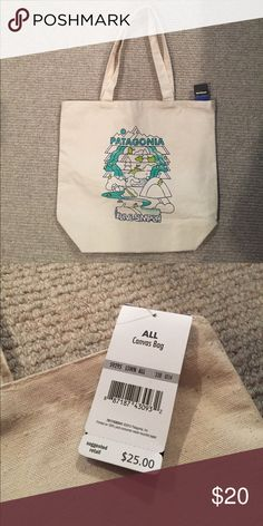 Patagonia canvas tote Never used. Durable and very cute. Patagonia Bags Totes