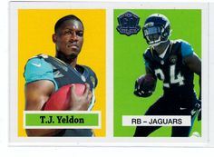 2015 Topps Rookie T.J. Yeldon # T60-TY