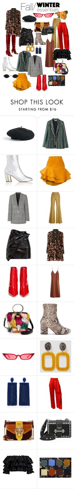 """""""Fall/Winter Trends (-SFG)"""" by hillaryjoaira ❤ liked on Polyvore featuring Venus, Proenza Schouler, Siobhan Molloy, Alexander Wang, Zeynep Arçay, Dodo Bar Or, Gianvito Rossi, Milly, Free People and Oscar de la Renta"""