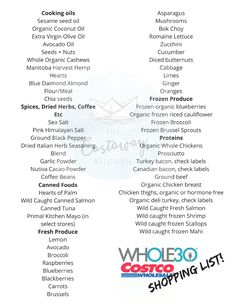 Print or pin this shopping list for Costco and shop with ease. Totally compliant items and tips for saving money. This Whole30 Costco shopping list has you covered!