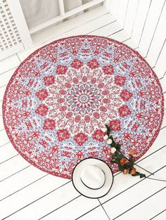 SHARE & Get it FREE | Indian Printed Mandala Beach Throw - RedFor Fashion Lovers only:80,000+ Items • New Arrivals Daily Join Zaful: Get YOUR $50 NOW!