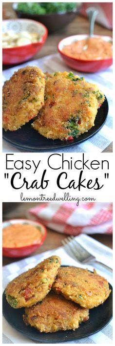 "Easy Chicken ""Crab Cakes"" | Lemon Tree Dwelling"