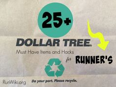 Most of the time I am in the Dollar Store or Tree only at Christmas to do a DIY craft or home decor project, but I discovered many items and hacks that are awesome if you are a runner training for a half marathon or race. I love number 3! Running tips| 5K | 10K plans | fitness