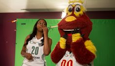 Camille Little and Doppler at Media Day