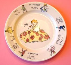 Syracuse China Children's Nursery Rhyme Plate