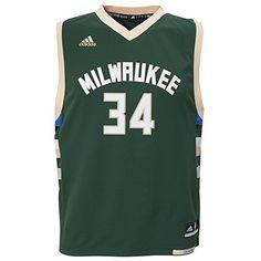 f43b5e2f802 Giannis Antetokounmpo Milwaukee Bucks  34 NBA Youth Road Jersey Green  https   allstarsportsfan