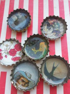 bottle top magnets - it's resin, Becky, that is poured in the top....Who knew?