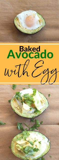 Need a super filling start to your day? Try this Baked Avocado with Egg. It's full of protein and good for you fats to keep you full until lunch. Looks pretty too! {paleo, whole30, gluten-free} via @lkkelly98