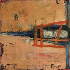 Doing Time - Molly Geissman - Mixed Media Encaustic Painting