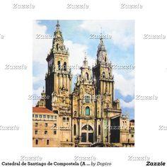 Catedral de Santiago de Compostela (A Coruña) Impresiones En Lona