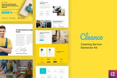 Cleanco - Cleaning Service Company Template Kit  ⠀  Cleanco is an Elementor Template Kit build for cleaning service company that needs a website to show their profile and portfolio . The template is pixel-perfect designed, making sure your final cre...  ⠀  #cleaning #contractors #detheme #electrician #engineer #generalcontractor #handyman #maid #painter #themeforest #tradeservices #plumber #building #maintenance #responsive #contractor #construction Cleaning Services Company, Wordpress Website Design, Web Themes, Best Templates, Business Website, Website Template, Kit, Screen Size, Profile