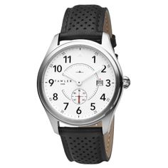 Buy Fawler - Fritz Fraser Aviator Watch for only Shop at Trendhim and get returns. We take pride in providing an excellent experience. Black And White Colour, Black And Brown, Boys Watches, Men's Watches, Welcome To The Family, Bracelet Cuir, Black Stainless Steel, Mechanical Watch, Danish Design
