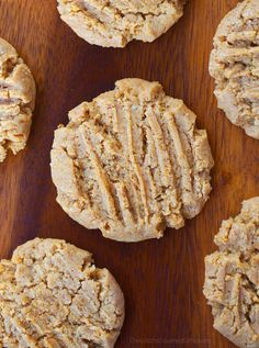 Healthy and vegan peanut butter cookies with a secret ingredient: applesauce! There are hundreds of reviews on the recipe... People love these cookies!