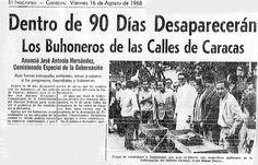 Dentro de 90 días desaparecerán los buhoneros de Caracas. Publicado el 12 de agosto de 1968.