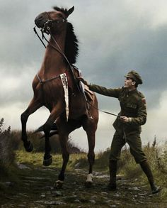 """Hello. I am Graham and this is my horse Mary. We both served our time in the war. We now live in the country with my child,Taylor. H3r mother died when she was very young so it's just me her and Mary."""