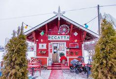 cafe regatta helsinki winter snow