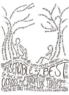 Coolest lyric drawing I've ever seen. Miserable at Best - Mayday Parade Her Music, Music Is Life, Lyric Quotes, Band Quotes, Halestorm, Love Band, Music Lyrics, Lyric Art, Smile Everyday