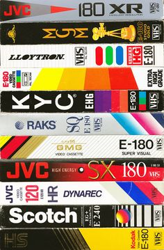 vhs tapes - for those born too late - the numbers represent the number of minutes of program that fit on the tape. You could tape over and over old programs till the tape eventually lost quality.