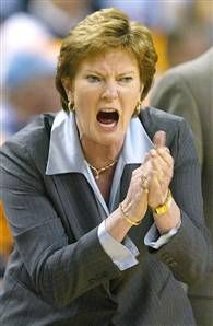pat summitt, coach of the lady vols of tennessee ... she is a true champion - and not just because of her coaching legacy but because of her courage as she battles the cruelist (sp) of all diseases: alzeheimer's ... to think she may one day not recognize all those whose lives she has touched is beyond heartbreaking ...