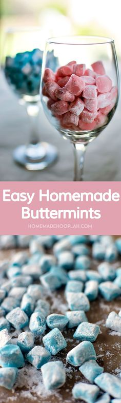 Easy Homemade Buttermints! Melt-in-your-mouth buttermints that are surprisingly easy to make at home. | HomemadeHooplah.com: