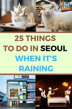 Read this really useful list of 25 activities to do when it's raining in Seoul. Never be stuck without anything to do, no matter what the weather brings. #southkorea #korea #koreatravel #koreantravel #rainydays #seoul #seoultravel