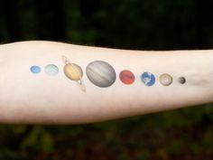Solar System Temporary Tattoo Planet Tattoo von SymbolicImports