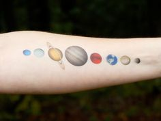 Solar System Temporary Tattoo  Planet Tattoo  by SymbolicImports