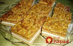 """Cake called """"Heaven in Your Mouth"""" Czech Recipes, Ethnic Recipes, Macaroni And Cheese, Waffles, French Toast, Bread, Breakfast, Czech Food, Heaven"""