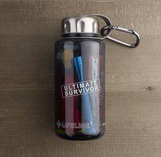 Ultimate Survivor Kit in a Water Bottle